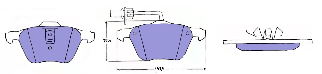 Тормозные колодки на Фольсваген т4, радиус колес 16