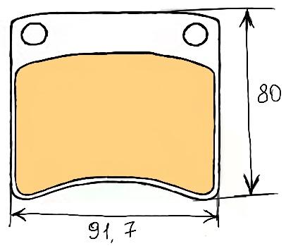 Тормозные колодки на Фольсваген т4, систем 1LE