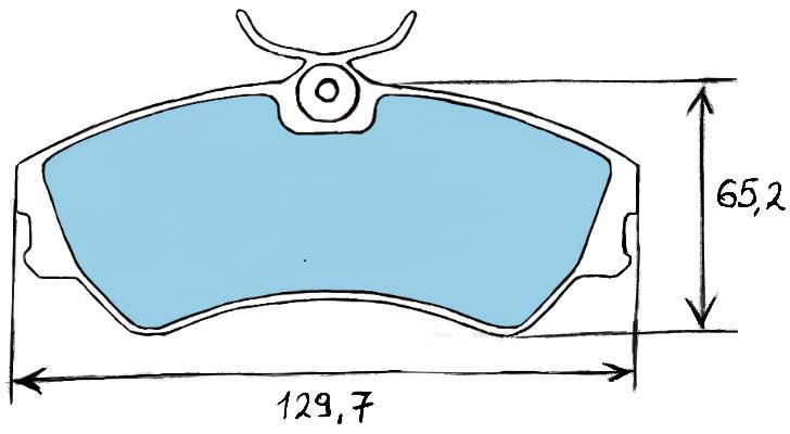 Тормозные колодки на Фольсваген т4, систем 1LP
