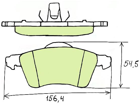 Тормозные колодки на Фольсваген т4, систем 1LU